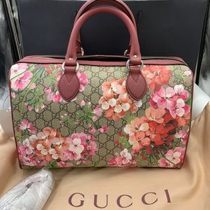 Authentic GUCCI Blooms large  Boston bag